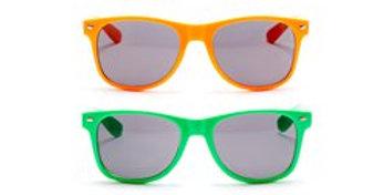 80s Neon Wayfarer Glasses - Assorted Colours (each)