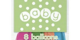 """12"""" Balloons Printed 1 Side - Pastel - Baby"""