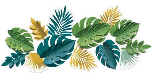 Tropical Decorative Leaves (13pk)