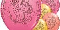 Disney Princess Belle Balloons - 11'' Latex 75c each