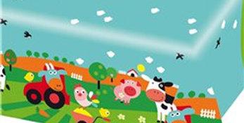 Farm Fun Plastic Tablecover - 1.2m x 1.8m (each)