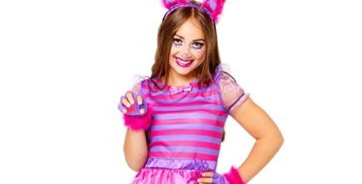 Cheshire Cat - Teen Costume 10-12,14-16 years includes Dress with attached