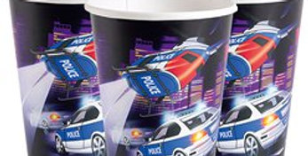 Police Cups - Paper Party Cups 255ml (8pk)