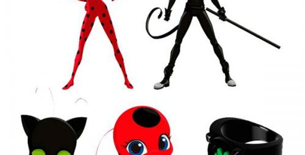 5pc miraculous cake topper approx 2cm each