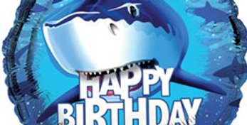 Shark splash 18'' foil balloon