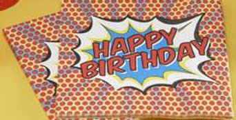 Happy Birthday Paper Napkins - Pop Art Superhero Party  20PK
