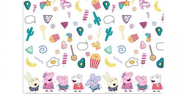 Plastic Tablecover Peppa Pig Messy 120x180cm