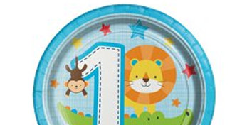 One is Fun Boy Lunch Party Plates - 18cm (8pk)