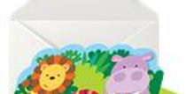Animal Friends Stand Up Invite & Envelopes (6pk)