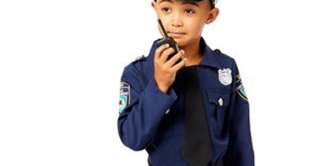 Police Officer - Child Costume ncludes hat, trousers, jacket , tie, belt
