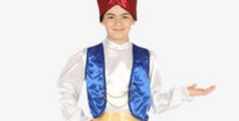 Aladdin - Child Costume Includes Hat,shirt with waiscoat,trousers