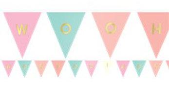 Pastel Custom Paper Pennant Banner
