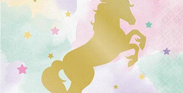 Unicorn Sparkle Luncheon Paper Napkins - 33cm (16pk)