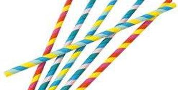 Rainbow Paper Straws  30pk