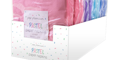 Pastel Disposable Paper Napkins 2 Ply - 40 Pack