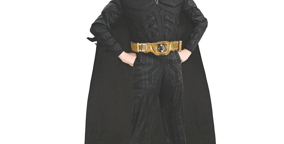 Batman child costume includes Jumpsuit with attached boot tops,cap, Belt & mask