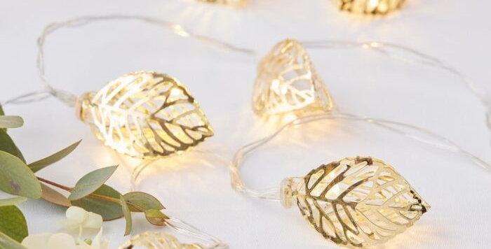 GOLD VINE STRING LIGHTS - GOLD WEDDING