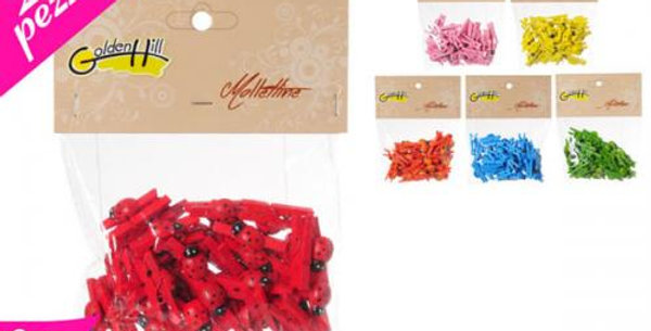 20 per pack mini pegs with ladybird Motif
