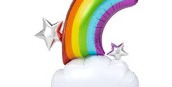Rainbow AirLoonz Balloon -Air Fill 52'' Foil (each)
