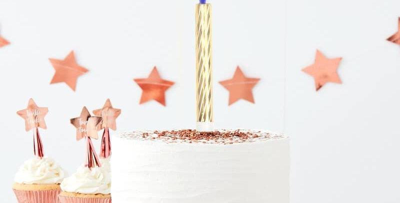BLUE /PINK BIRTHDAY OR GENDER REVEAL 3 CAKE FOUNTAIN - TWINKLE TWINKLE