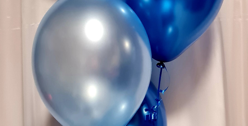 """1 foil balloon 18"""" + 6 latex balloons including helium"""