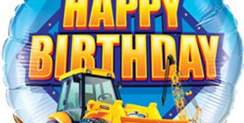 Happy Birthday Construction Zone Balloon - 18'' Foil (each)