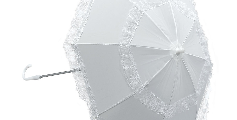 White Parasol Long Handle