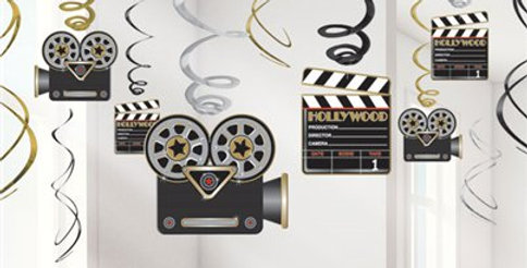 Hollywood Hanging Swirls Decoration - 60cm (12pk)