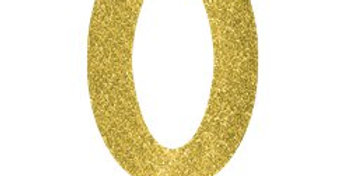 Gold glitter numbers 1-0