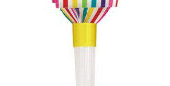 Rainbow Paper Party Blowers (8pk)