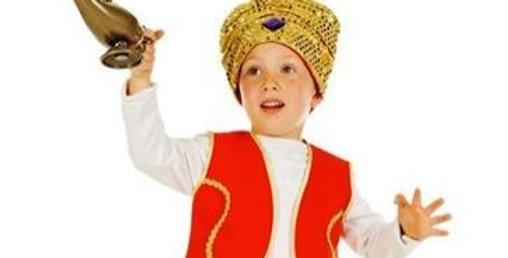 Aladdin - Child Costume includes Aladdin waistcoat, Harem tr