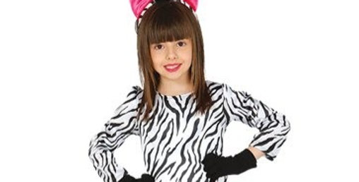 Zebra - Child Costume (each) Includes Dress, Headband and Legwarmers 5-6,