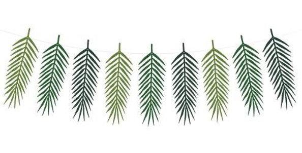 Green Palm Leaf Garland - 1.25m