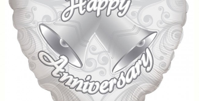 Happy Anniversary Bells - 18'' foil balloon