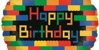 Birthday Blocks Balloon - 18''Foil