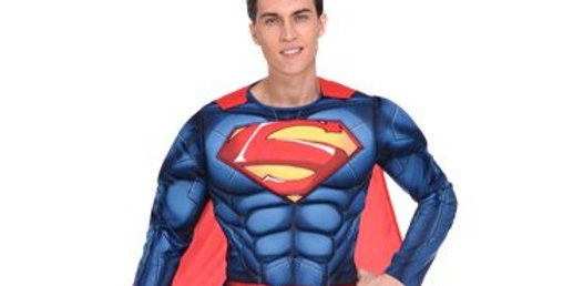 Superman Muscle Chest - Adult Costume includes stretchy jumpsuit ,padded c