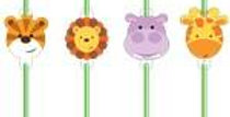 Animal Friends Straws (8pk)