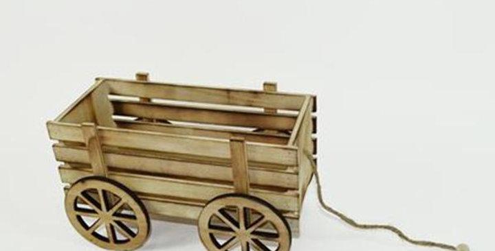 Wooden cart  15x24 cm
