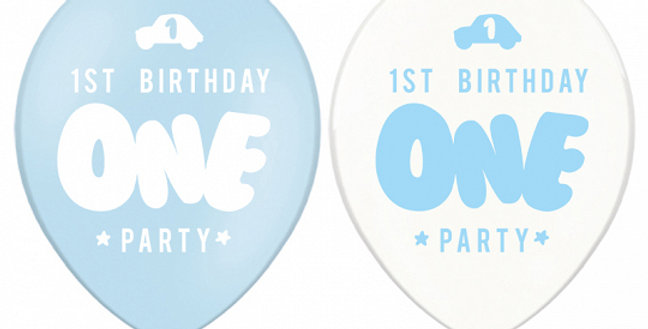 Strong Balloons One, 30cm, Pastel Baby Blue 6pk