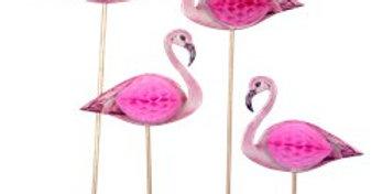 Flamingo Honeycomb Cocktail Picks (12pk)