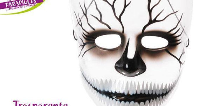 transparent skeleton mask