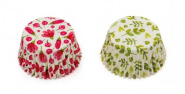 Flowered design cupcake cases 36pz.