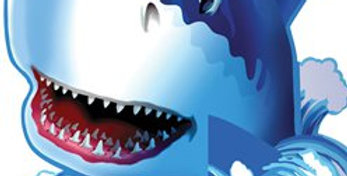 Shark Splash Party Table Centrepiece - 23cm (each)