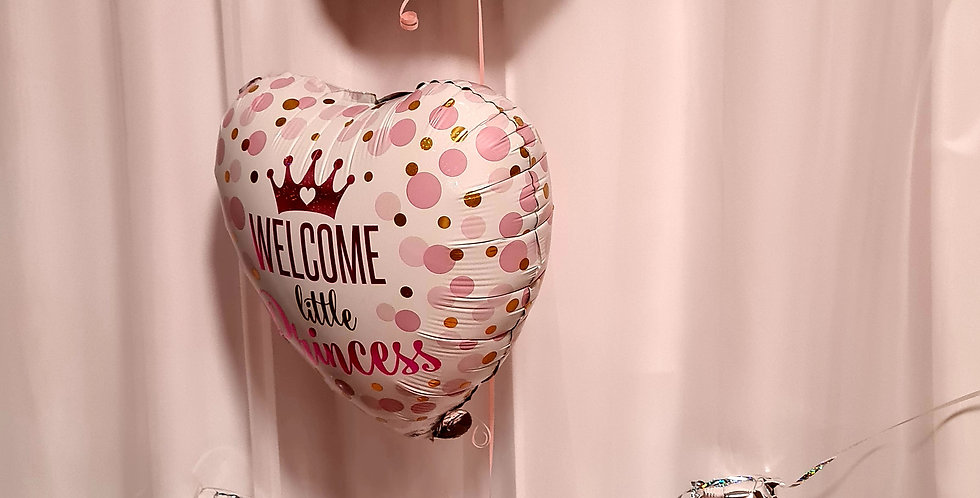 """2 foil balloons 18"""" including helium with 2 foil 35cm letters airfilled only"""