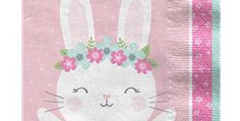 Birthday Bunny Lunch Napkin - 33cm (16pk)