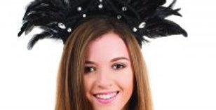 Black Feather Carnival Headdress