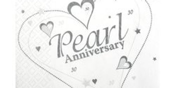 Pearl Anniversary Napkins - 3ply Paper (20pk)