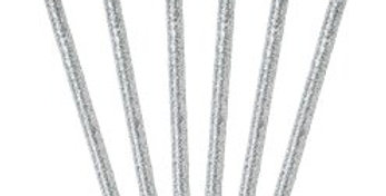 Luxe Silver / gold Glitter Candles - 10cm (16pk)