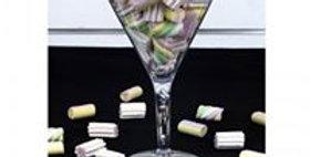 Plastic Martini candy jar ø16x25cm
