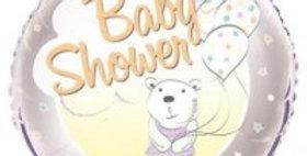 Baby Shower Bear 18in foil balloon
